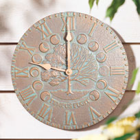 Whitehall Times and Seasons Clock - Copper Verdi