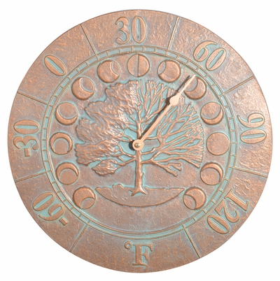 Whitehall Times and Seasons Thermometer - Copper Verdi