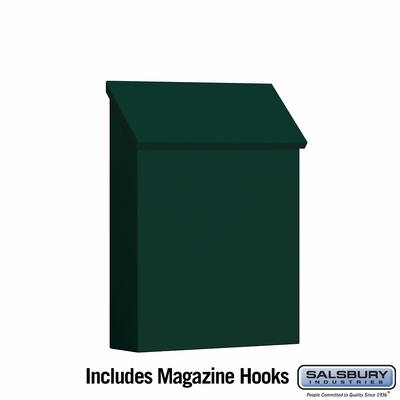 Salsbury 4620GRN Traditional Mailbox Standard Vertical Style Green