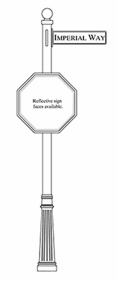 Traffic and Street Sign Package Century Series - Stop Sign