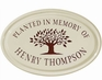 Whitehall Tree Memorial Ceramic Oval - One Line Petite Wall Plaque - Red
