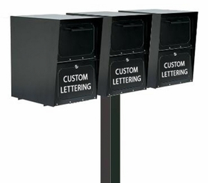Triple Locking Curbside Standard In-Ground Post System (Mailboxes Purchased Separately)