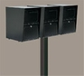 Triple Locking Curbside Wood Post Adapters with Newspaper Receptacles (Mailboxes purchased separately - Post not Included)