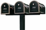 Triple Standard Surface Mount Post System (Mailboxes Purchased Separately)