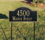 Arch Marker Standard Two-sided Two Line Lawn Address Sign