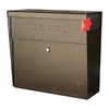 Ultimate High Security Locking Metro Wall Mount Mailbox in Bronzed Copper