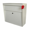 Ultimate High Security Locking Metro Wall Mount Mailbox in White