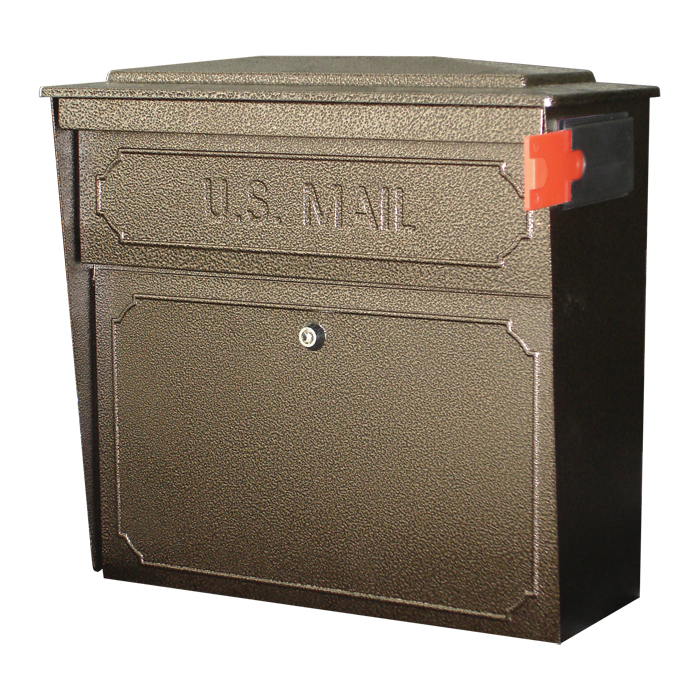 ultimate high security locking townhouse wall mount mailbox in bronzed copper - Lockable Mailbox