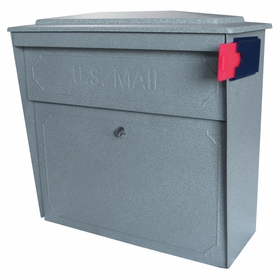 Ultimate High Security Locking Townhouse Wall Mount Mailbox in Granite