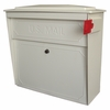 Ultimate High Security Locking Townhouse Wall Mount Mailbox in White