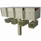 Ultimate High Security Locking Triple Mailbox & Post Package - Granite