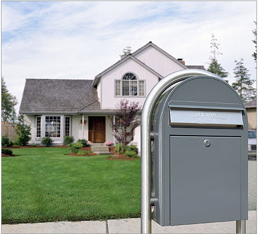 usps bobi classic grey front access lockable mailbox - Lockable Mailbox