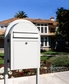 USPS Bobi Classic White Front Access Mailbox (Post Included)