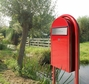 USPS Bobi Red Round Mailbox Post
