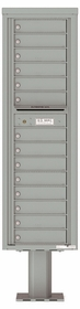 Versatile Front Loading 14-Door Single Column Pedestal Mailbox