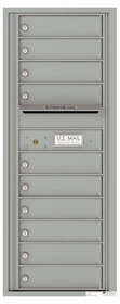 Versatile Front Loading Commercial Mailbox with 10 Tenant Doors and Outgoing Mail Slot - Single Column
