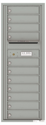 Versatile Front Loading Commercial Mailbox with 11 Tenant Compartments and Outgoing Mail Slot - Single Column