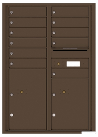 Versatile Rear Loading Commercial Mailbox with 11 Tenant Doors and 2 Parcel Lockers - Double Column