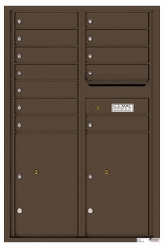4C Rear Loading Horizontal Mailboxes 11 to 12 Doors