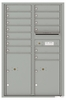Versatile Front Loading Commercial Mailbox with 13 Tenant Compartments and 2 Parcel Lockers - Double Column