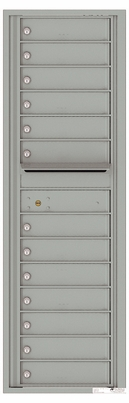 Versatile Front Loading Commercial Mailbox with 13 Tenant Doors