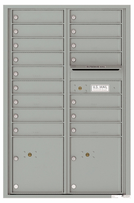 Versatile Front Loading Commercial Mailbox with 16 Tenant Compartments and 2 Parcel Lockers - Double Column