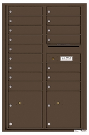 Versatile Rear Loading Commercial Mailbox with 16 Tenant Compartments and 2 Parcel Lockers - Double Column