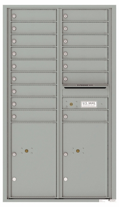 Versatile Front Loading Commercial Mailbox with 16 Tenant Doors and 2 Parcel Lockers
