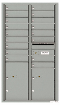 Versatile Front Loading Commercial Mailbox with 17 Tenant Doors and 2 Parcel Lockers