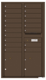 Versatile Rear Loading Commercial Mailbox with 18 Tenant Doors and 2 Parcel Lockers