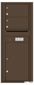 Versatile Rear Loading Commercial Mailbox with 2 Tenant Doors and 1 Parcel Locker - Single Column