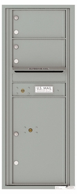 Versatile Front Loading Commercial Mailbox with 2 Tenant Doors and 1 Parcel Locker - Single Column