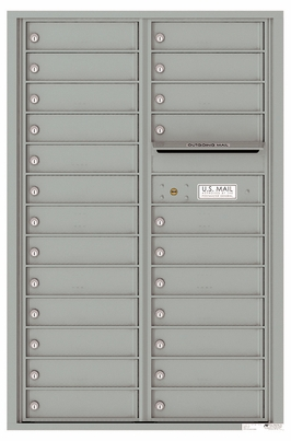 Versatile Front Loading Commercial Mailbox with 24 Tenant Compartments and Outgoing Mail Slot - Double Column