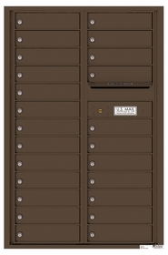 Versatile Rear Loading Commercial Mailbox with 24 Tenant Compartments and Outgoing Mail Slot - Double Column