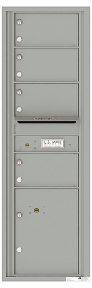 Versatile Front Loading Commercial Mailbox with 4 Tenant Doors and 1 Parcel Locker