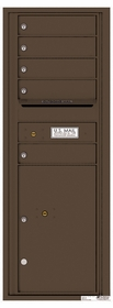 Versatile Rear Loading Commercial Mailbox with 5 Tenant Compartments and 1 Parcel Locker - Single Column