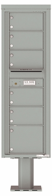 Versatile Front Loading Commercial Mailbox with 6 Tenant Doors