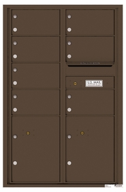 Versatile Rear Loading Commercial Mailbox with 7 Tenant Compartments and 2 Parcel Lockers - Double Column