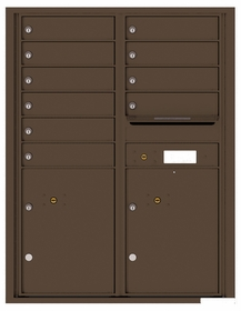 Versatile Rear Loading Double Column Commercial Mailbox with 10 Tenant Doors and 2 Parcel Lockers