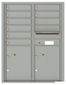 Versatile Front Loading Double Column Commercial Mailbox with 10 Tenant Doors and 2 Parcel Lockers
