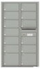 Versatile Front Loading Double Column Commercial Mailbox with 13 Tenant Doors