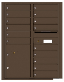 Versatile Rear Loading Double Column Commercial Mailbox with 15 Tenant Doors and 1 Parcel Locker