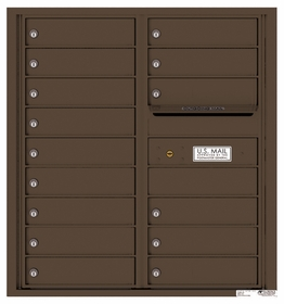 Versatile Rear Loading Double Column Commercial Mailbox with 15 Tenant Doors and Outgoing Mail Slot