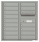 Versatile Front Loading Double Column Commercial Mailbox with 16 Tenant Doors and Outgoing Mail Slot