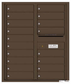 Versatile Rear Loading Double Column Commercial Mailbox with 18 Tenant Compartments and Outgoing Mail Slot