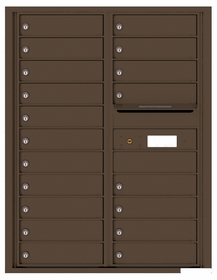 Versatile Rear Loading Double Column Commercial Mailbox with 19 Tenant Doors and Outgoing Mail Slot