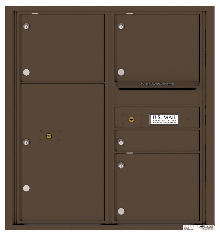 Rear loading 4c commercial mailbox 4c09d 04r auth florence for Auth florence