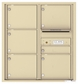 Versatile Front Loading Double Column Commercial Mailbox with 6 Tenant Compartments and Outgoing Mail Slot