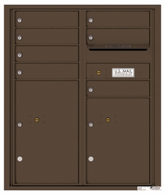 Versatile Rear Loading Double Column Commercial Mailbox with 7 Tenant Compartments and 2 Parcel Lockers