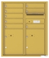 Versatile Front Loading Double Column Commercial Mailbox with 8 Tenant Compartments and 2 Parcel Lockers